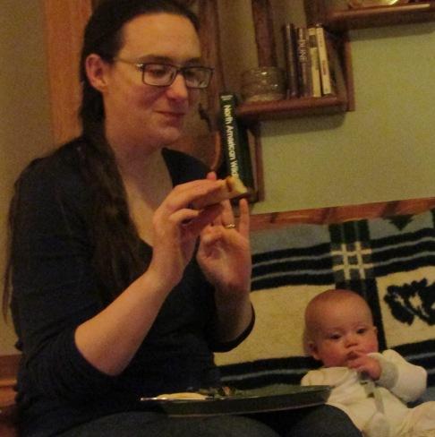 Caitlin and Asa pizza
