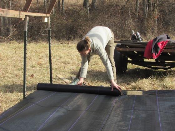 greenhouse landscape fabric