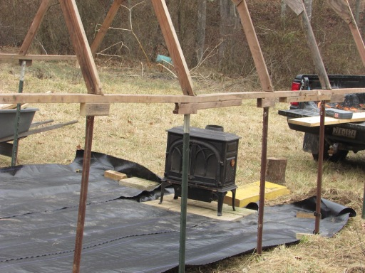 Greenhouse woodstove