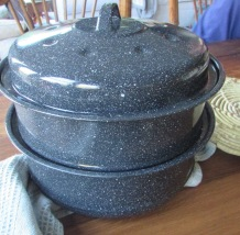 stacked sun oven pots
