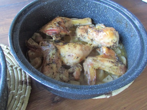 sun oven chicken and turnips